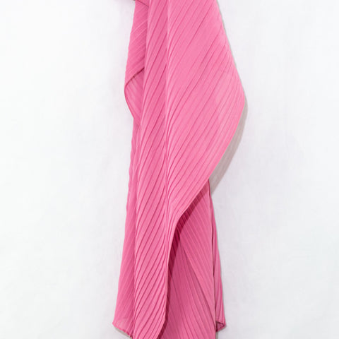 Bubble Gum Pink Pleated Chiffon Hijab