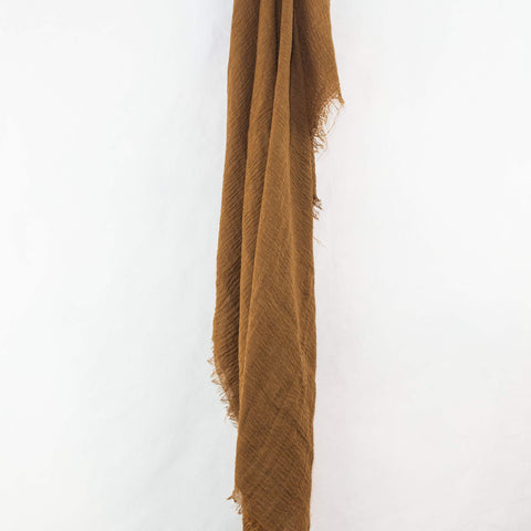 Caramel Brown Cotton Crinkle Hijab