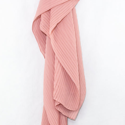 Cotton Candy Pink Pleated Chiffon Hijab