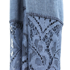 Denim Blue Premium Lace Cotton Viscose Hijab
