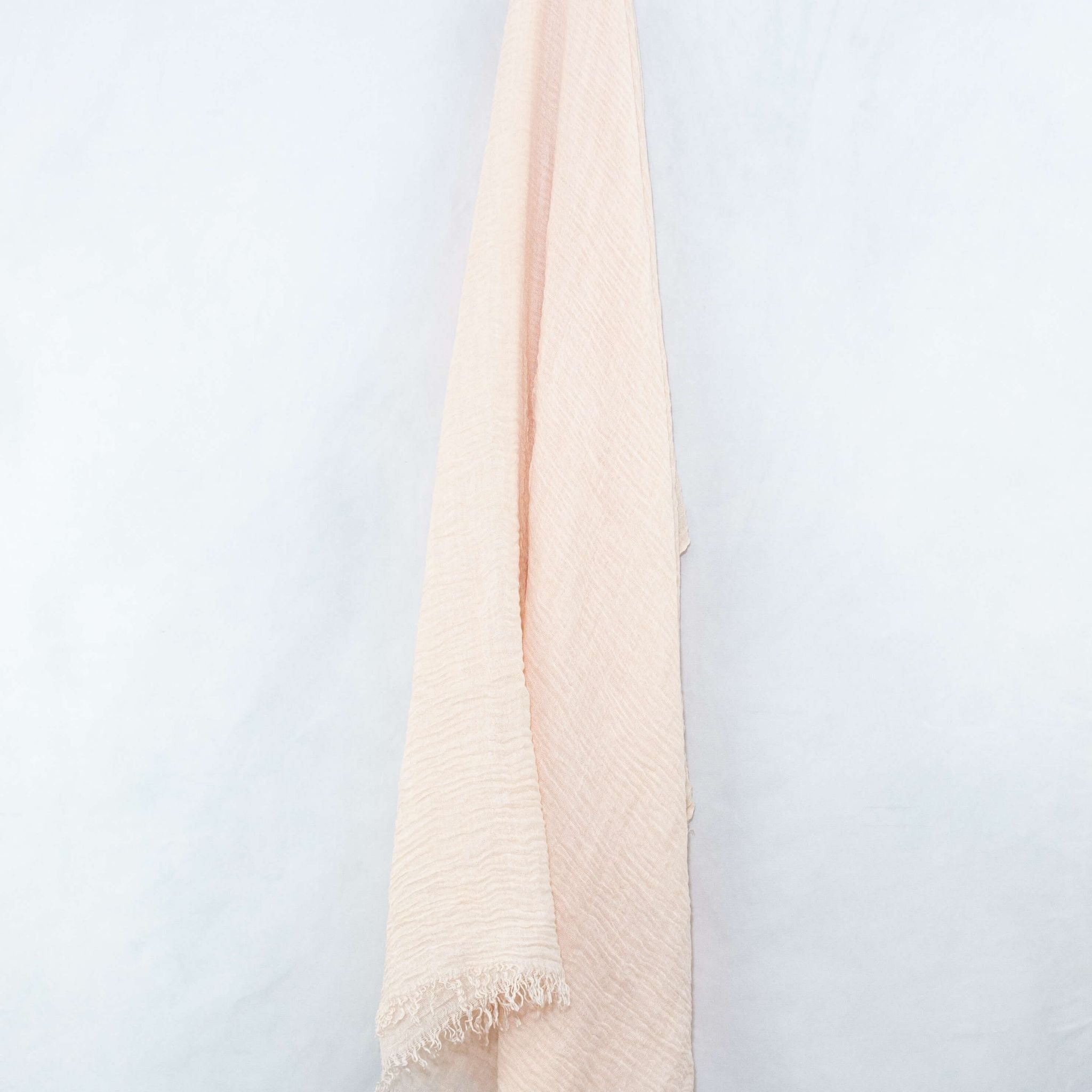 Ecru Light Beige Cotton Crinkle Hijab
