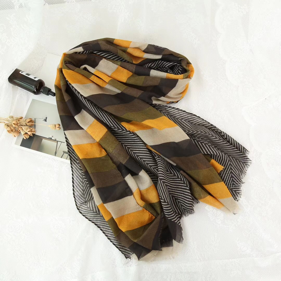 The Daffodil Stripe Hijab