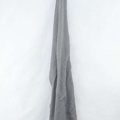 Light Grey Cotton Crinkle Hijab