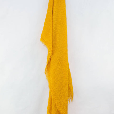 Mustard Yellow Cotton Crinkle Hijab
