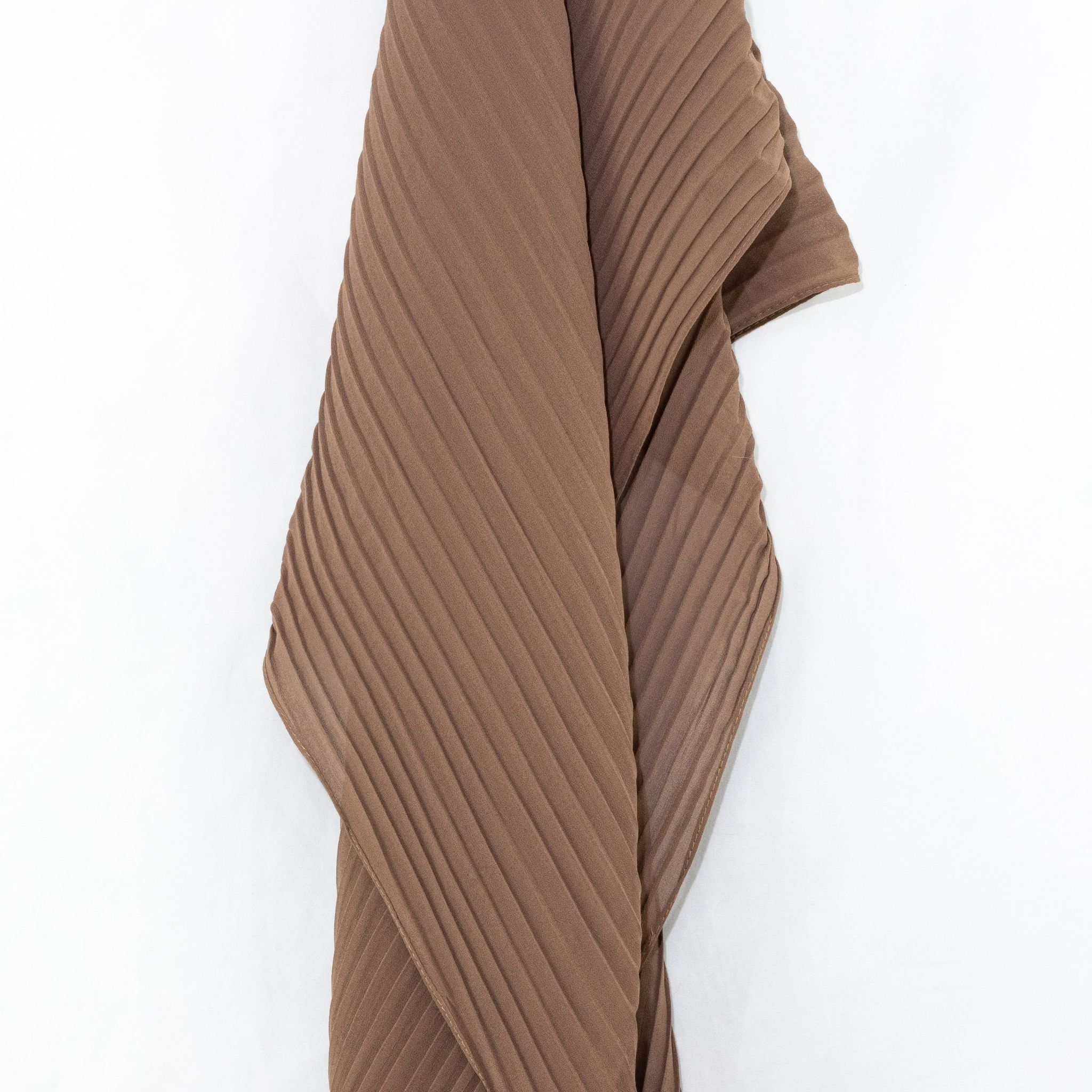 Nutmeg Tan Pleated Chiffon Hijab