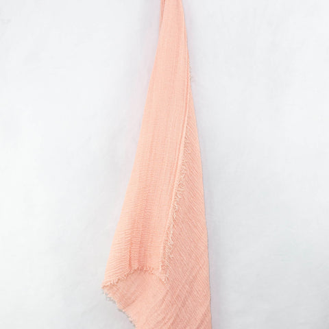 Peach Cotton Crinkle Hijab