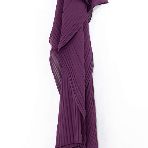 Plum Purple Pleated Chiffon Hijab