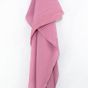 Rose Pink Pleated Chiffon Hijab