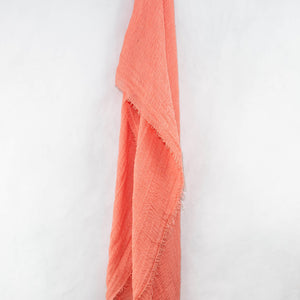 Salmon Cotton Crinkle Hijab
