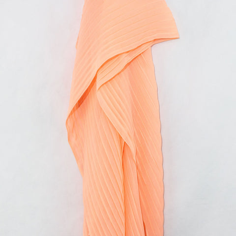 Salmon Pleated Chiffon Hijab