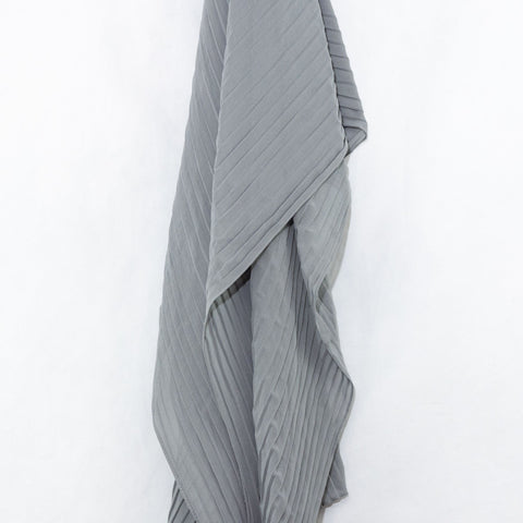 Silver Pleated Chiffon Hijab