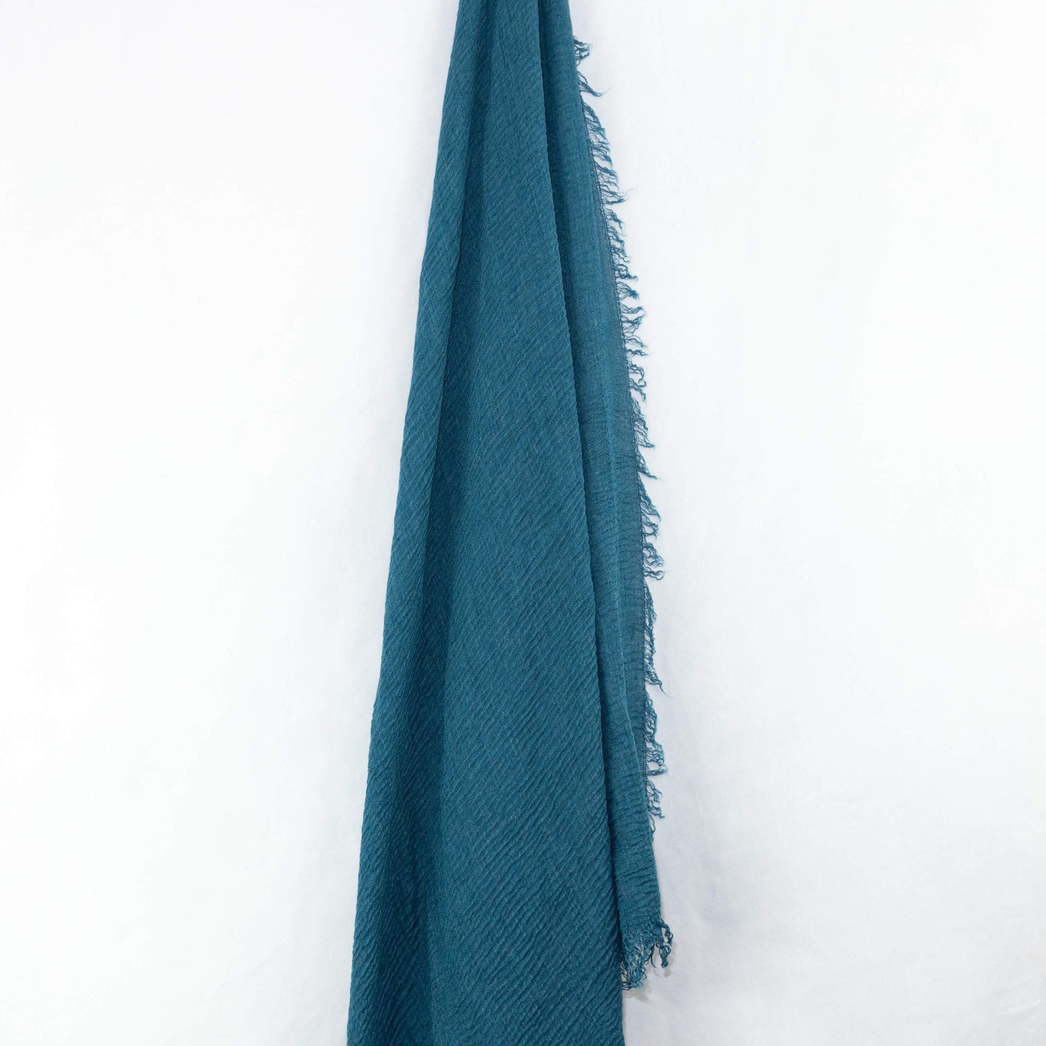 Teal Cotton Crinkle Hijab