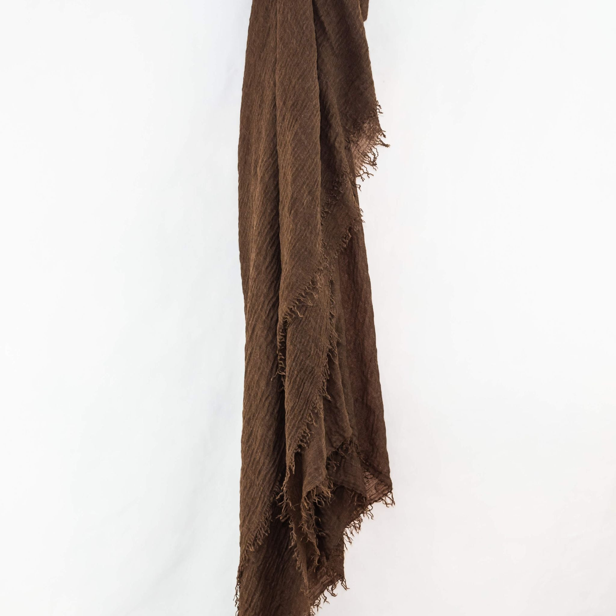 Walnut Brown Cotton Crinkle Hijab
