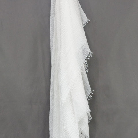 White Crinkle Cotton Hijab