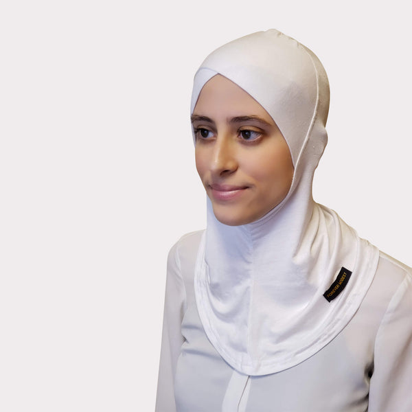 White Modal Full Coverage Underscarf