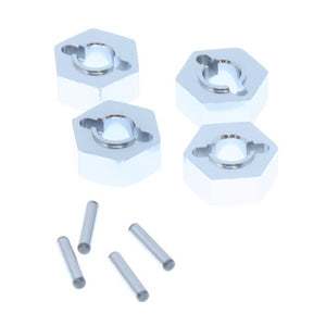 180016S - Everest Gen7 Wheel Hex Mount W/Pins(2*10) 4P, Silver