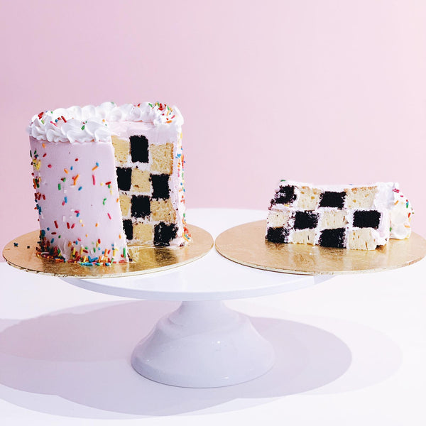 Checker Board Cake