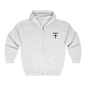 Load image into Gallery viewer, Hoodie KINGS CROWN WHT - Unisex Heavy Blend™ Full Zip Hooded Sweatshirt - Tattooed Theory