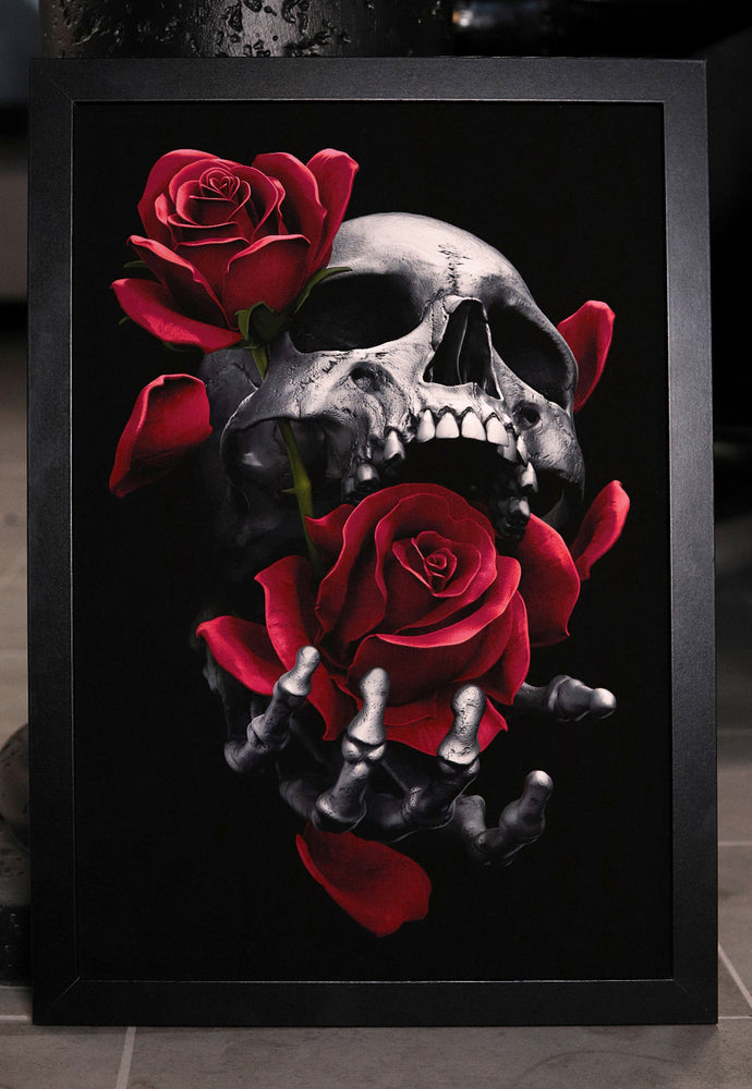 "Load image into Gallery viewer, Prints ""DEATHS TOUCH"" Limited Art Print - Tattooed Theory"