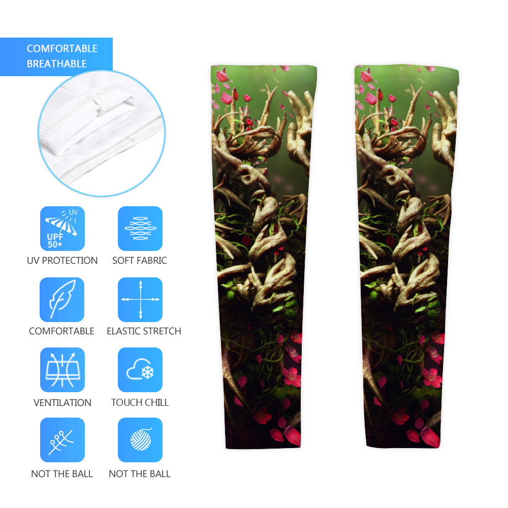 Load image into Gallery viewer, Mother of Nature UV arm Sleeve - pair