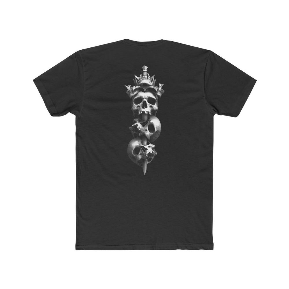Load image into Gallery viewer, T-Shirt KINGS CROWN BLK - Men's Cotton Crew Tee - Tattooed Theory