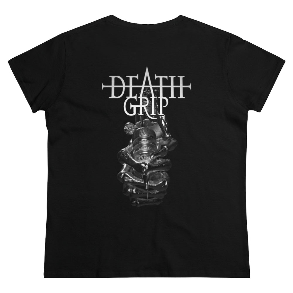 T-Shirt Silver Deathgrip Women's Heavy Cotton Tee - Tattooed Theory