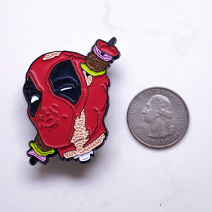 "Load image into Gallery viewer, ""Deadpool Kebab"" Pin"