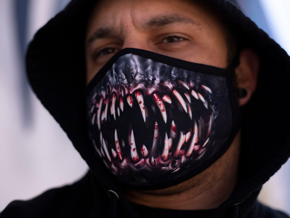 Load image into Gallery viewer, Accessories VENOM - Fitted Polyester Face Mask - Tattooed Theory