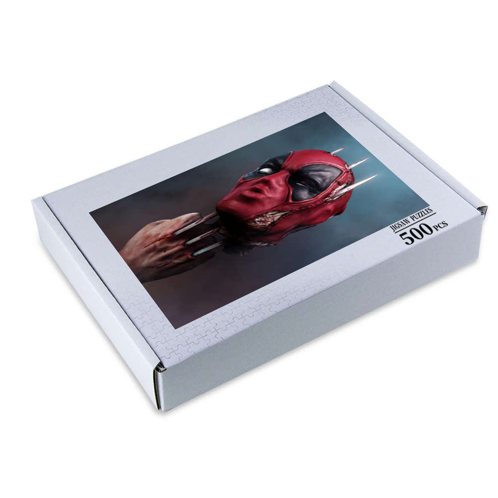 Puzzle Deadpool Jigsaw Puzzle Wooden Puzzle (500 Pieces) - Tattooed Theory