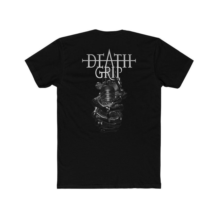 T-Shirt Silver Deathgrip Men's Cotton Crew Tee - Tattooed Theory
