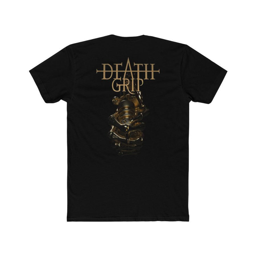 T-Shirt Gold Deathgrip Men's Cotton Crew Tee - Tattooed Theory