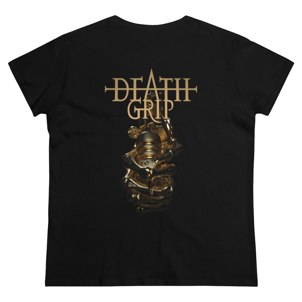 T-Shirt Gold Deathgrip Women's Heavy Cotton Tee - Tattooed Theory