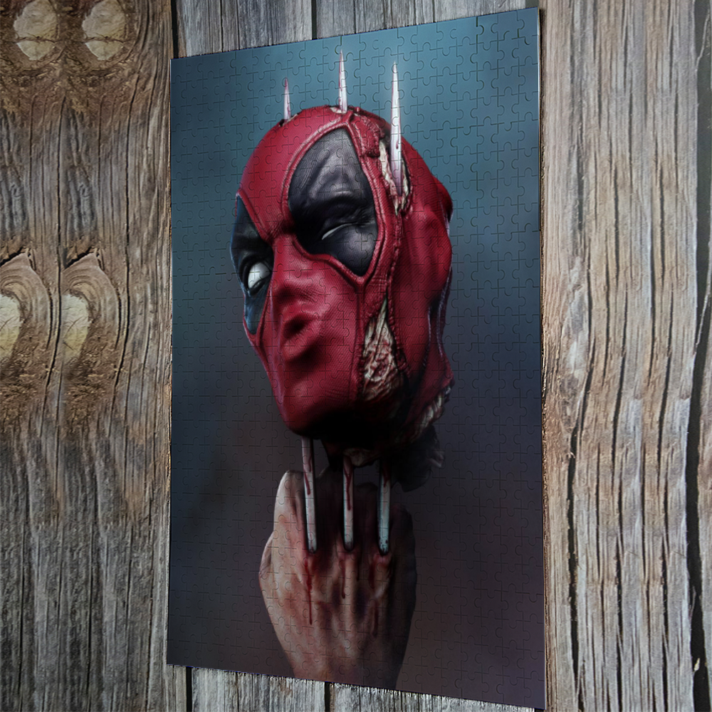 Load image into Gallery viewer, Puzzle Deadpool Jigsaw Puzzle Wooden Puzzle (500 Pieces) - Tattooed Theory