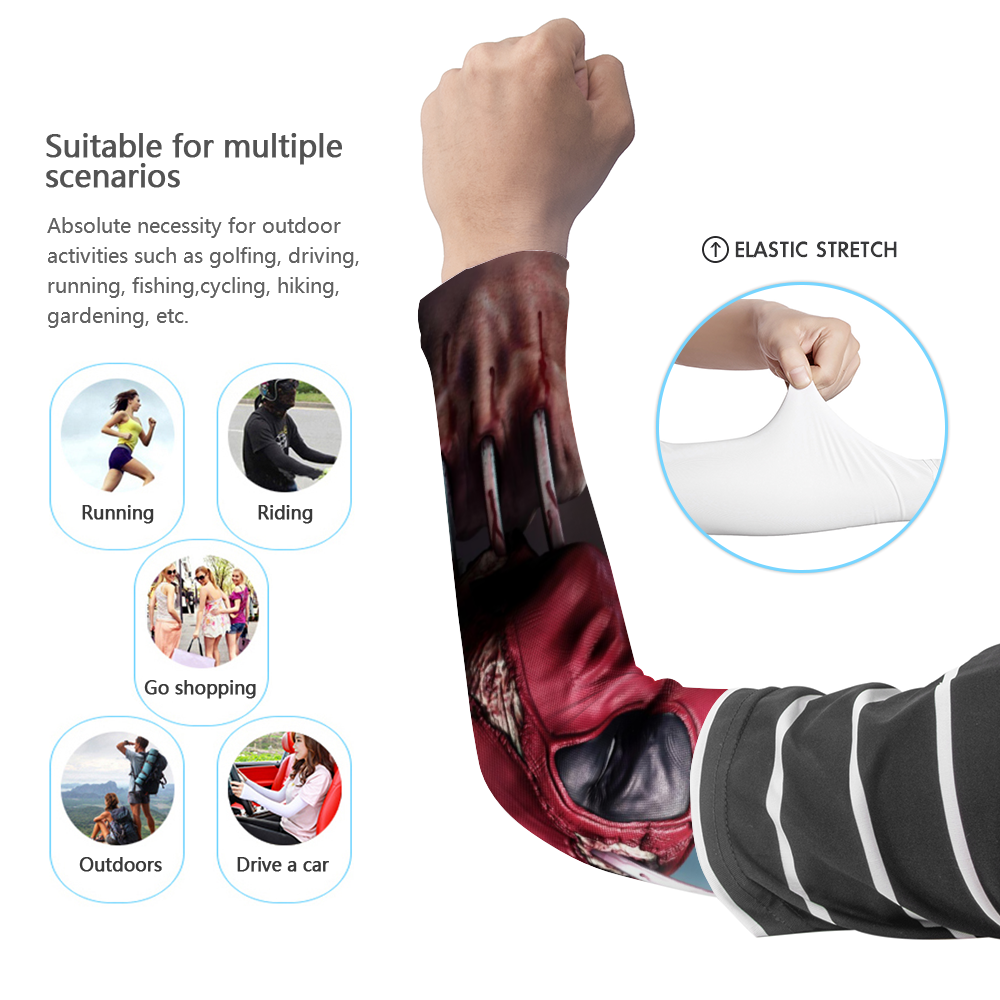 Load image into Gallery viewer, DeadPool UV arm Sleeve - pair