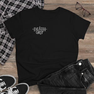 Load image into Gallery viewer, T-Shirt Silver Deathgrip Women's Heavy Cotton Tee - Tattooed Theory
