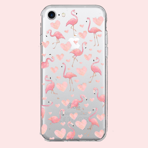 Flamingo Hearts Case