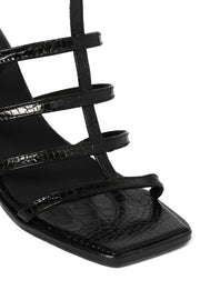 SAMPLE SALE Itsume Heels Black Patent Croc