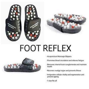 Pressure Relief Foot Massage Slipper with free Magnetic Insoles