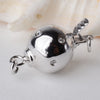 Sterling Silver Round Ball Box Clasp