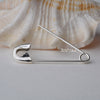 Sterling Silver Shawl pin Safety Broochs 3