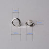 Sterling Silver Eyelet Rivets for Big Hole Beads