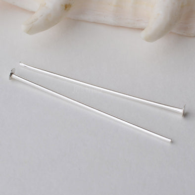 Sterling Silver headpin with Flat Pad