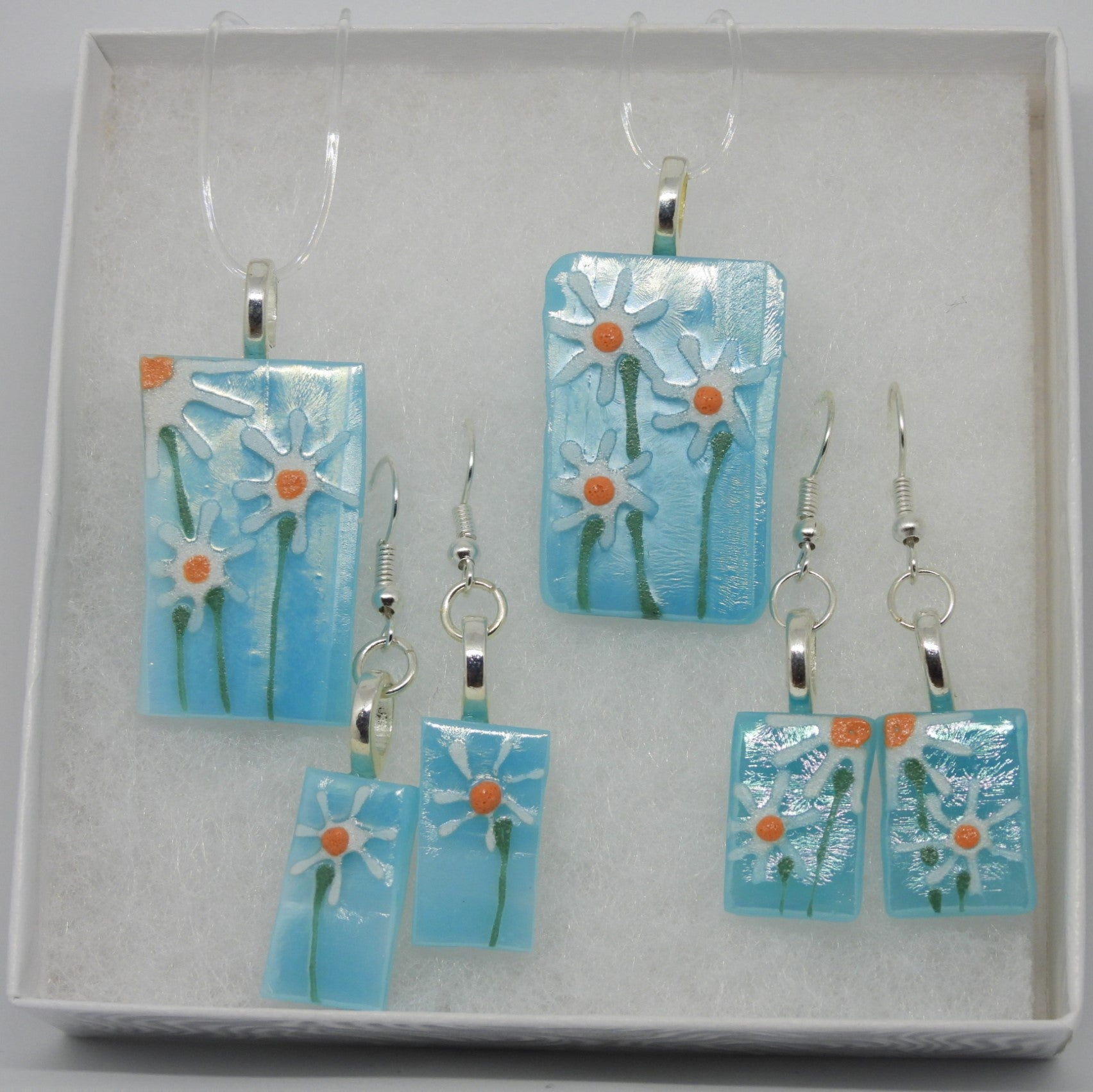 Light Blue Necklace / Earrings