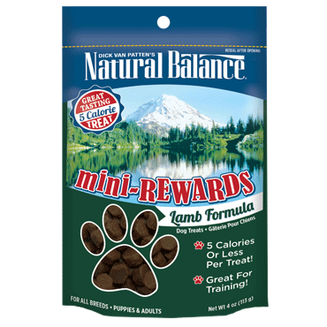 Natural Balance Mini Rewards Lamb Formula Semi-Moist Dog Treat 4oz