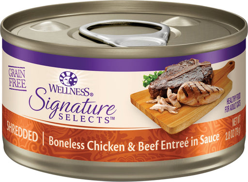 Wellness Signature Selects Shredded Boneless Chicken & Beef Entree in Sauce