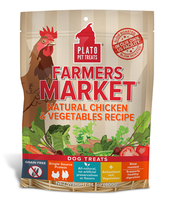 Plato Farmers Market Chicken and Vegetables Dog Treat 4 oz