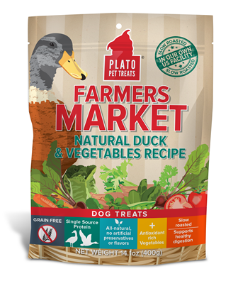 Plato Farmers Market Duck and Vegetables Dog Treat 4 oz