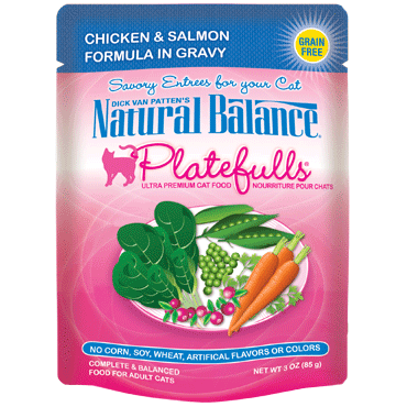 Natural Balance Feline Platefulls Chicken and Salmon 3oz