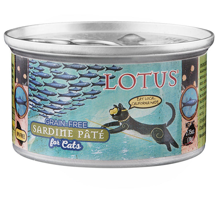 Lotus Cat Sardine Grain Free Pate 2.75oz