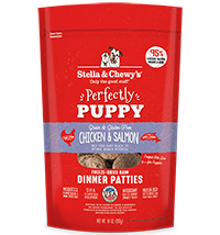 Stella & Chewy's Freeze-Dried Perfectly Puppy Chicken & Salmon Dinner Patties 5.5 oz